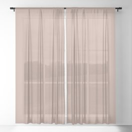 Dark Rose Pink Solid Color Pairs with Sherwin Williams Alive 2020 Forecast Colors Sandbank Pink Sheer Curtain
