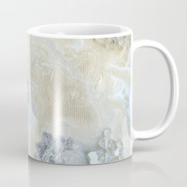 Neutral Glam Abstract Agate Geode Crystal Painting Coffee Mug