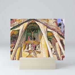 Gaudi Sagrada Familia, Barcelona - Detail Mini Art Print