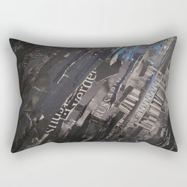 collage black and blue Rectangular Pillow