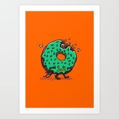 Zombie Donut 01 Art Print