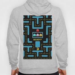 pac-man blue Hoody