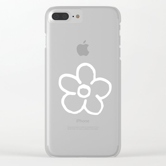 Polka Flower Spring Dots Clear iPhone Case