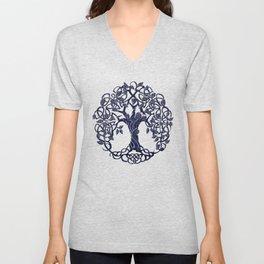 Tree of Life Blue Unisex V-Neck