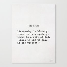 Bil Keane quote Canvas Print