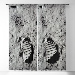 Apollo 11 - First Footprint On The Moon Blackout Curtain