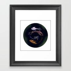 YIN AND YANG- BLACK Framed Art Print