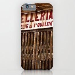 Old Sicilian Butcher Shop in Marsala iPhone Case