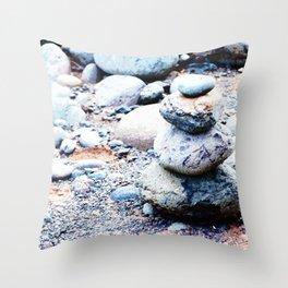 Rock Cairn Throw Pillow
