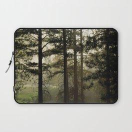 Sunrise Shroud Pine Forest Laptop Sleeve
