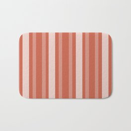 Dark Coral Victorian Lady Stripe Bath Mat