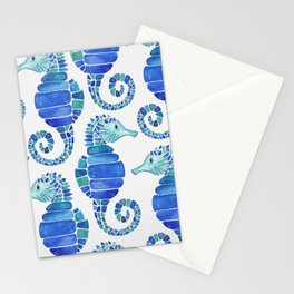 Seahorse - Blue  Stationery Cards