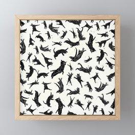 Shadow Cats Space Framed Mini Art Print