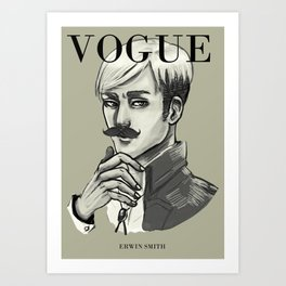 Commander Handsome on the cover of Vogue Art Print