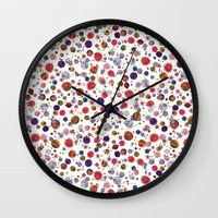 constellations Wall Clocks featuring Constellations by Ninola