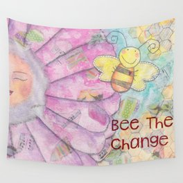 Save The Bees - Bee The Change Wall Tapestry