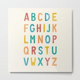 Vintage Alphabet ABCs Metal Print