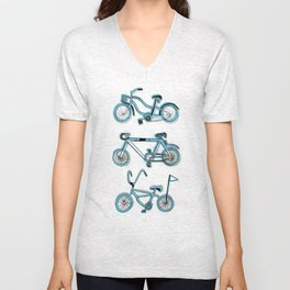 Gonna ride my bike 'til I get home(blue) Unisex V-Neck