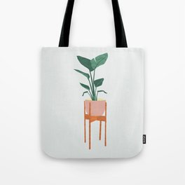 Boho mid century modern house plant and pot stand Tote Bag