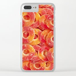 Gummy Sour Peach Rings Photo Pattern Clear iPhone Case