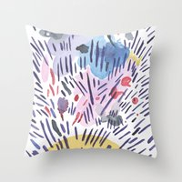 physics Throw Pillows featuring Quantum physics by Dreamy Me