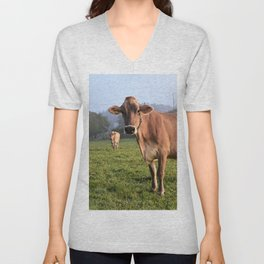 Cows in a Field Unisex V-Neck