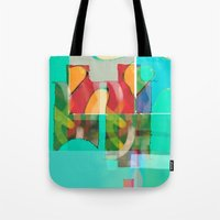 pool Tote Bags featuring POOL by  ECOLARTE