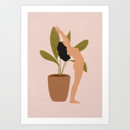 Morning Yoga Art Print