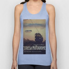 Vintage poster - Stresa-Mottarone Unisex Tank Top