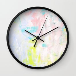 Summer Garden_Dusty Pink & Purple abstract painting Wall Clock