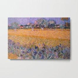 Field with Irises near Arles by Vincent van Gogh Metal Print