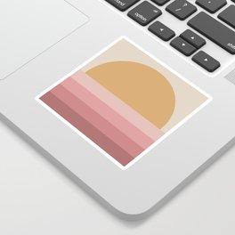 Minimal Retro Sunset / Sunrise - Warm Pink Sticker
