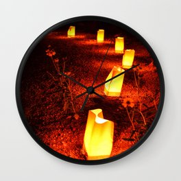 Glowing Luminary Bags  Wall Clock