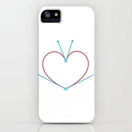 Bezier Love iPhone Case