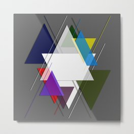 AbstractTriangles Metal Print