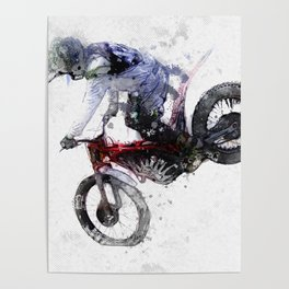 Nose Stand - Motocross Move Poster