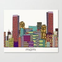 miami Canvas Prints featuring Miami by bri.buckley
