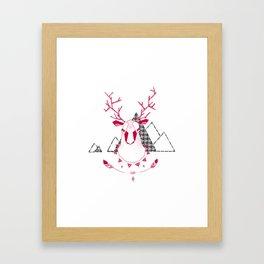Christmas Geo Deer 7 Framed Art Print