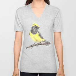 Tit bird Unisex V-Neck
