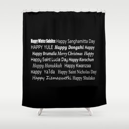 Happy Holidays! Midnight Shower Curtain