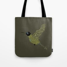 Abstract Hummingbird Tote Bag