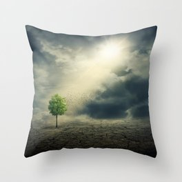 Drought on Earth Throw Pillow