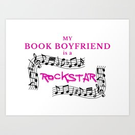 BOOK BOYFRIEND Art Print