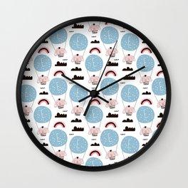 Airships Prints patterns Wall Clock