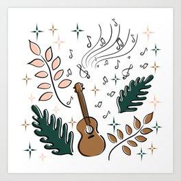 I play ukulele Art Print