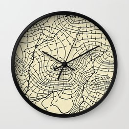 Topography Map Wall Clock