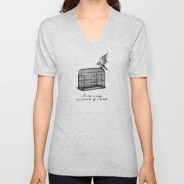 Franz Kafka - Cage in Search of a Bird Unisex V-Neck