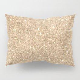 Gold Glitter Chic Glamorous Sparkles Pillow Sham