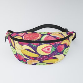 Fruit Cocktail on Blue Fanny Pack