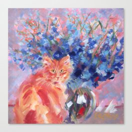 Ginger Blue Canvas Print